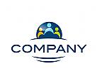 Logo, Signet, drei Menschen, Gruppe, Dienstleistung, Coaching, Consulting, Schulung, Sprachschule