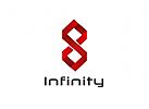 Zeichen, Signet, Logo, Abstrakt, Infinity, Band, 8