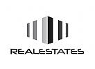Zeichen, Signet, Logo, Abstrakt, Bau, Immobilie, Säulen, Handwerk