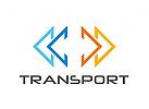 Zeichen, Signet, Logo, Abstrakt, Logistik, Transport, Pfeil, Dreieck