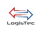 Zeichen, Signet, Logo, Abstrakt, Logistik, Transport, Pfeile