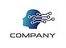 Zeichen, Signet, Logo, Kopf, IT, Elektronik