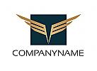 Zeichen, Signet, Logo, Flügel, V