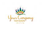 Lotusblume.Lichterfülltes Logo.