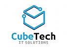 Würfel Logo, Technologie Logo, Menschen Logo, Gruppen Logo, Beratung Logo