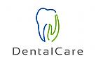 Zeichen, Signet, Logo, Zahn, Hand, Zahnarztpraxis, Dental Care