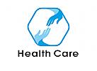 Zeichen, Signet, Logo, Hände, Hand, Arztpraxis, Schutz, Pflege, Wellness