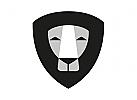 Zeichen, Signet, Logo, Löwe, Abstrakt, Schild, Crest