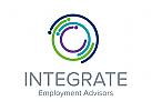 Kreis Logo, Spirale Logo, Menschen Logo, Kinder Logo, Soziale Logo, Beratung Logo