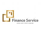 Logo Signet, Quadrate, Finanzen, Service