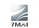 Abstraktes Sieben, 7-Logo