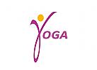 Zeichen, Signet, Logo, Yoga, Sport, Mensch