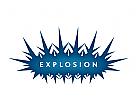 Logo Signet, Knall, Explosion, Information,Beratung, Gefahr, Detonation