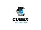 Ö Würfel, Buchstabe C, Hexagon, Technologie, Medien, Daten, Pixel, Abstrakt Logo