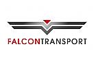 Zeichen, Signet, Logo, Transport, Logistik, Falke, Abstrakt