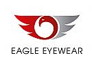Zeichen, Signet, Logo, Adler, Auge, Optiker