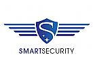 Zeichen, Signet, Logo, Security, Schild, Buchstabe, S, Flügel