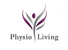 Zeichen, Signet, Logo, Physiotherapie, Mensch, Baum