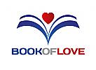 Zeichen, Signet, Logo, Herz, Buch, Abstrakt
