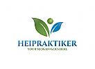 Ö Person, Blätter, Pflanze, Kreis, Heilpraktiker, Natur, Umwelt Logo