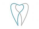 Ökozähne, Zähne, Zahn, Zahn, Strahlen, Herz, Logo