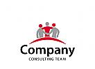 Logo Signet, drei Menschen, Consulting, Coaching, Team