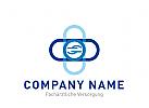 Logo Signet, Kreuz, Hände, Schutz, Pflege, Arzt, Facharzt