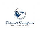 Logo, Signet, Adlerkopf, Finanzen, Geldhandel, Adleraugen