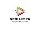 Ö Medien, Marketing, Technologie, Video, Digital, Daten, Entwicklung, Spiel Logo