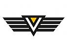 Zeichen, Signet, Logo, Buchstabe, V, Flügel