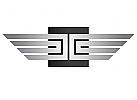 Zeichen, Signet, Logo, Quadrat, Flügel, Metall