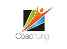 Zeichen, Signet, Logo, Mensch, Coaching, Sport, Physiotherapie, Sportarzt, Arztpraxis