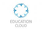 Zeichen, Signet, Logo, Menschen, Kreis, Gruppe, Bildung, Wolke, Cloud