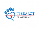 Ö Tierarzt, Landtierarzt, Veterinär, Herz, Pulse Logo