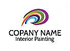Farbe Logo, Malerei Logo