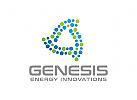 Abstrakt Logo, Dreieck Logo, Energie Logo, Recycling Logo, Industrie Logo