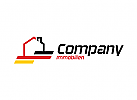 Ök Deusche Immobilien, Deutschland, Haus, Heim Logo