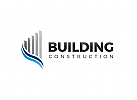 Ö Immobilien Logo, Grundstücke , Architektur, Bau, Skyline Logo