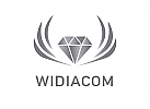 Zeichen, Signet, Logo, Diamant, Flügel