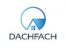Zeichen, Signet, Logo, Dachdecker, Haus, Immobilie, Bau