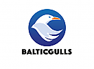 Zeichen, Signet, Logo, Möwe, Seevogel, Seagull
