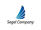 Logo Segel, Segelboot, Schiff, maritim, Finanzen, Wind im Segel