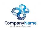 Logo zweimal abstrakt unendlich, 88, Signet, Zeichen