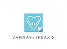 Logo Signet Zahn, Herz, Büroklammer, Zahnarzt, Dentallabor