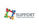 Gruppe Logo, Menschen Logo, Kindern Logo