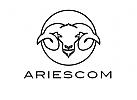 Zeichen, Signet, Logo, Widder, Aries, Hörner, Geweih