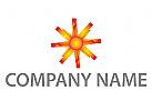 Zeichen, Skizze, Sonne, Stern, Umwelt, Energie, Logo
