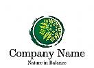 Logo Signet, Zeichen, Blumenmuster, Natur in Balance, Ökologie, Umwelt