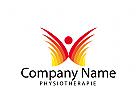 Logo Signet, Zeichen, Physiotherapie, Mensch, Bewegung, Freude, Beweglichkeit