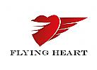 Zeichen, Signet, Logo, Herz, Flügel